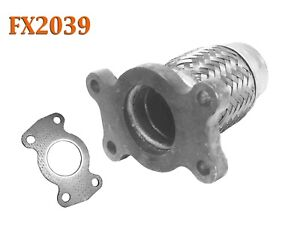 Fx2039 Semi Direct Fit Exhaust Flange Repair Flex Pipe Replacement Kit W Gasket