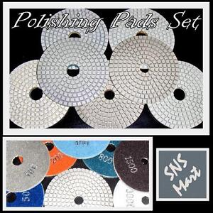 Diamond Polishing Pads 4 Wet dry Granite Marble Concrete Stone 10pc Grit 30