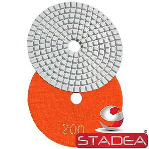 Diamond Polishing Pads 4 Wet dry Granite Marble Concrete Stone 10pc Grit 200