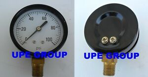 Pressure Gauge Compressor Industrial Hydraulic 2 5 Face 0 100 Lower Mnt Mi