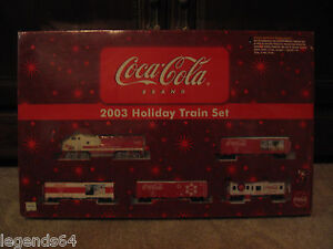 COCA COLA 1/87 SCALE COLLECTIBLE 2003 HOLIDAY TRAIN SET -  NEW - SEALED