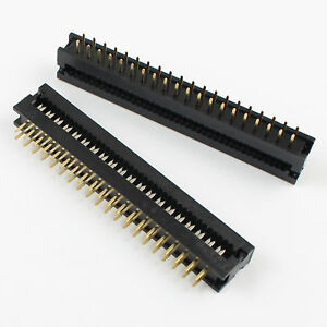 100pcs 2 54mm 2x20 Pin 40 Pin Male Idc Dip Plug Flat Cable Transition Connector