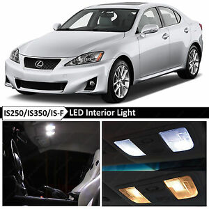 16x White Interior Led Lights Package For 2006 2012 Lexus Is250 Is350 Isf