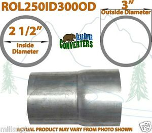 2 1 2 2 5 Id To 3 Od Universal Exhaust Pipe To Component Adapter Reducer