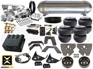 Complete Air Ride Suspension Kit 1973 1987 Chevrolet C10 Level 4 W Accuair