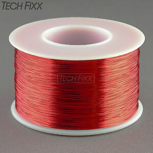 Magnet Wire 28 Gauge Awg Enameled Copper 1000 Feet Coil Winding 155c Red