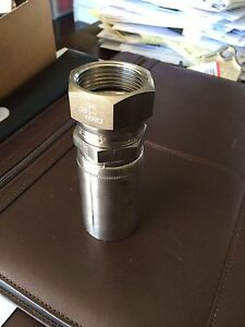 Parker Hydraulic Hose Fitting 10655 16 16c Stainless Steel