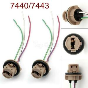 7443 T20 W21w Socket Xenon Led Light Bulb Car Truck Connector Wire Harness 2 Pcs