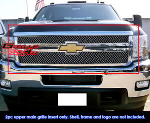 Fits Chevy Silverado 2500 3500 Hd Stainless Steel X Mesh Grill fits 2011 2013
