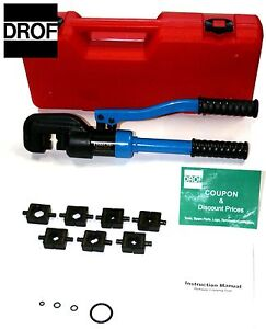 3 Tools 12 Ton Electric Terminal Wire Cable Crimping Tool Hydraulic Crimper Drof