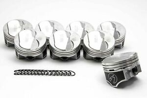Chevy 454 Speed Pro Hypereutectic Coated 10cc Dome Pistons moly Rings Kit 30