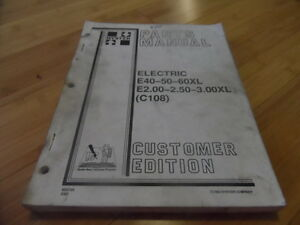 Hyster Electric E40 50 60xl E2 00 2 5 3 00 Xl C108 Forklift Parts Catalog Manual