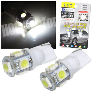 5 Smd Led Light Bulb X2 Dome Map Panel Trunk Plate Interior T10 5050 White