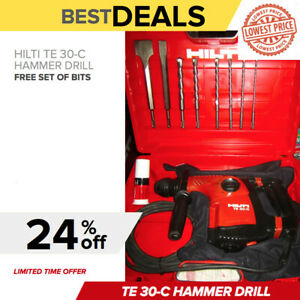 Hilti Te 30 c Avr Hammer Drill Preowned Free Bits Chisels Fast Ship