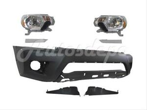 For 2012 13 Tacoma Prerunner Front Bumper Bracket Filler Headlight W Flare Hole