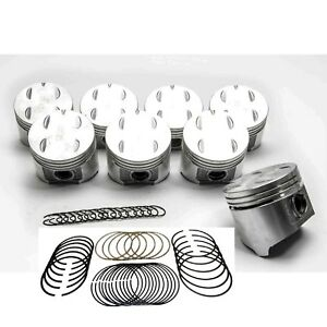 Sealed Power Chrysler dodge 318 5 2 Cast Flat Top Pistons rings Kit 1967 84 30