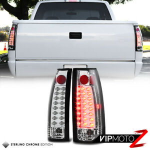 For 88 98 Chevy Tahoe Suburban Silverado Gmc Sierra Yukon Chrome Led Tail Light