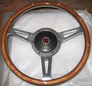 New 13 Wood Steering Wheel And Adaptor For Mga 1955 1962
