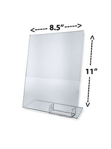 12 Clear Acrylic 8 5x11 Display Sign Holder W Business Card Holder Wholesale Lot