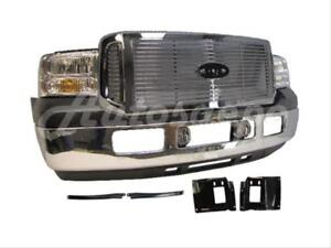 For 05 07 Ford F250 F350 F450 F550 Front Bumper Valance Grille Headlight Fog 12p