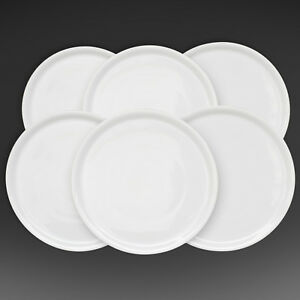 White Italian Porcelain Pizza Plate 13 Made In Italy 1 Case 6 Dishes