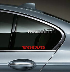 2 Volvo Sport Racing Decal Sticker Emblem Logo Red