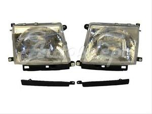 For 1998 2000 Tacoma 2wd W prerunner 98 00 4wd Headlight Grille Filler 4pcs
