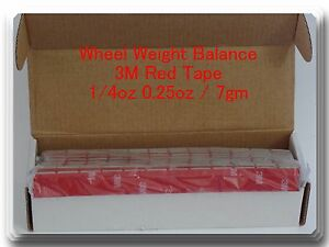 180 Pcs Stick On Self Adhesive Wheel Weights 1 4 0 25 Oz Total 45 Oz Red 3m Tape