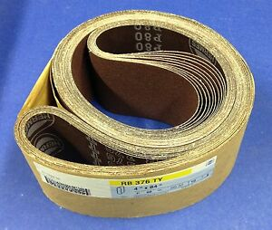 Hermes Rb 376 Ty Sanding Belts 4 X 84 P80 Sg32 Lot Of 10 Belts