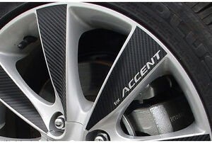 4 Wheel Mask Tunning 16 Carbon Sticker For 2011 2014 Hyundai Accent Solaris