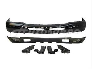 For 2003 2004 Silverado Front Bumper Bar Blk Air Deflector Fog Light Bracket