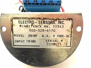 Electro Sensors 250 int Relay Module 250int