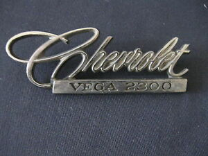 Chevrolet Vega 2300 Gm Emblem Badge Script Trim Metal 9870383