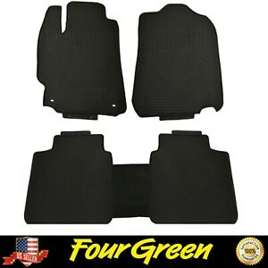 Floor Mats For 2012 2017 Toyota Camry Rubber All Weather Floor Mats