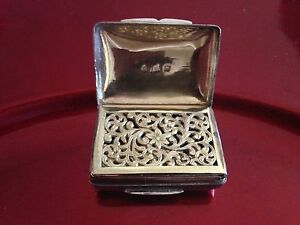 Antique 1822 Circa Sterling Silver With Solid Gold 14k Vinaigrette Gorgeous