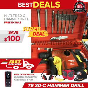 Hilti Te 30 c Avr Corded Hammer Drill Preowned Free Extras Fast Ship