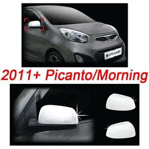 2011 2012 Picanto morning Chrome Side Mirror Cover Moulding Exterior Trim B 725