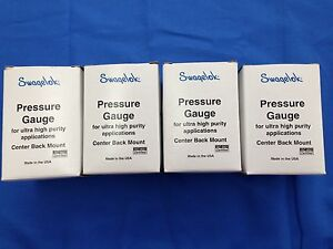Swagelok Pgu 50 M02 C 4ffm Pressure Gauge set Of 4ea New Old Stock In Box