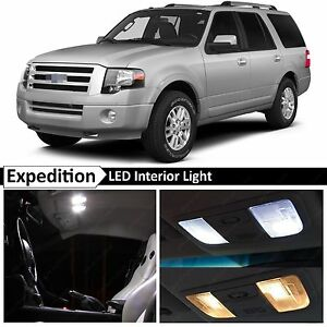 17x White Led Lights Interior Package For 2003 2014 Ford Expedition