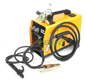 Mig 160 Dual Flux Mma Arc Welder Welding Machine Argon Co2 Regulator Gauge