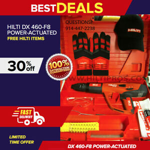 Hilti Dx 460 f8 Power actuated Tool brand New Free Hilti Extras Fast Shipping