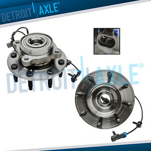 Set 2 New Front Wheel Hub Bearing Assembly Sierra Silverado Suburban 8 Lug