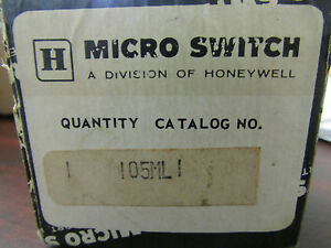 Honeywell Micro Switch 105ml1 Limit Switch