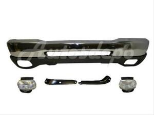 For 1999 2000 Ford Ranger Styleside Front Bumper Chr Valance Bracket Fog Light