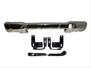 1999 2000 Ford Ranger Front Steel Bumper Face Bar Chrome Reinforce Bracket 5pc