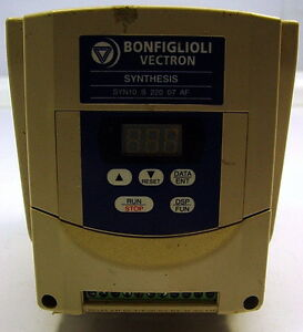 Bonfiglioli Vectron Syn10 Synthesis Ac Drive Inverter Syn10 S 220 07 Af