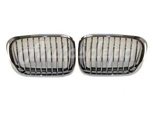 For 1999 2001 Bmw E46 323 325 328 330 Sdn wgn Grille Chrome W blk Rubber Set