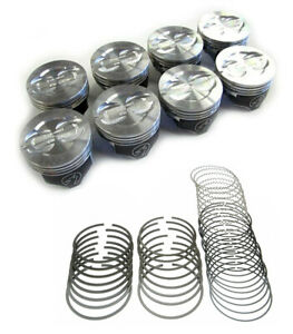 Speed Pro Chevy 400 Hypereutectic Dish Top Piston moly Ring Kit Use 5 7 Rods 30