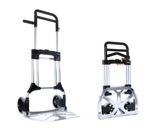 New Folding Hand Truck S300l Aluminum Fold Up Cart 400 Lb Utility Collapsible