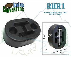 Rhr1 Exhaust Mount Rubber Insulator Grommet Hanger Bushing 1 2 Rod Support
